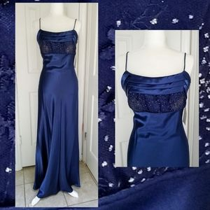 Spaghetti Straps Blue Party Cocktail Evening Dre…